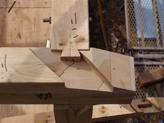 上棟から屋根葺き工事写真4