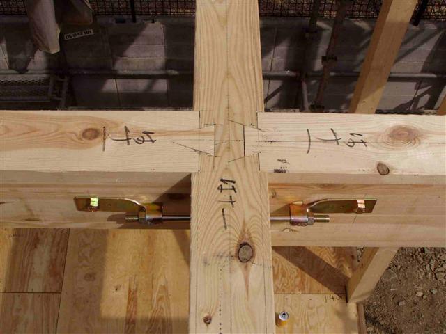 上棟から屋根葺き工事写真8