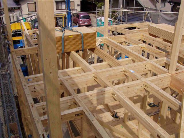 上棟から屋根葺き工事写真9