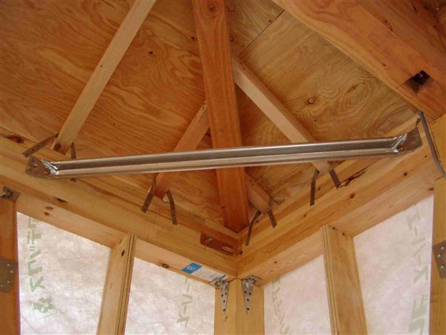 上棟から屋根葺き工事写真11