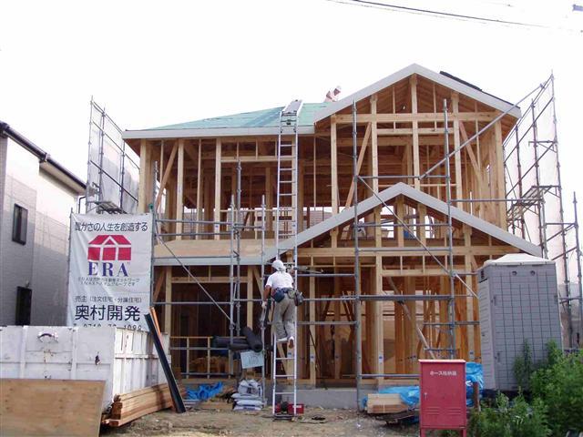 上棟から屋根葺き工事写真14