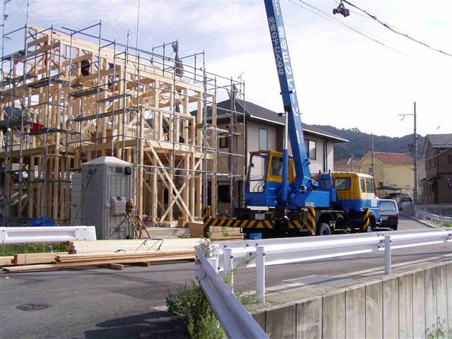 上棟から屋根葺き工事写真2